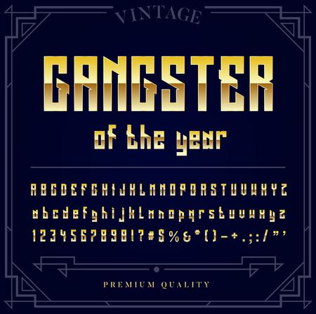 ゴールドの金属フォント セットです。文字、数字およびベクトル内の特殊文字 写真素材 - 77881135
