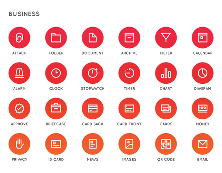 Business User Interface (UI) Vector Icon Set. High Quality Minimal Lined Icons for All Purposes.