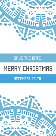 vector happy new year or merry christmas theme save the date