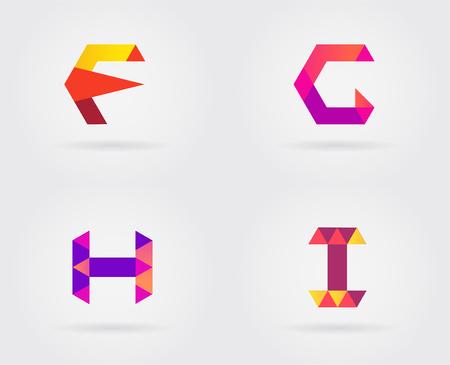 Ensemble d'éléments de modèle de conception d'icônes de lettre de logo dans le vecteur