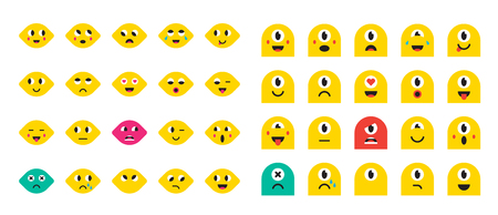 Set of Emoticons or Emoji for Devices. Vector Illustration. Illustration
