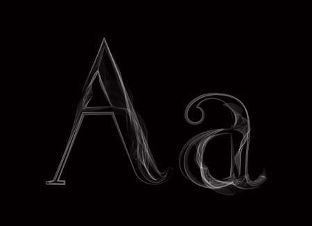 of helloween: Vector Smoke or Haze Letter Font Type, two letters