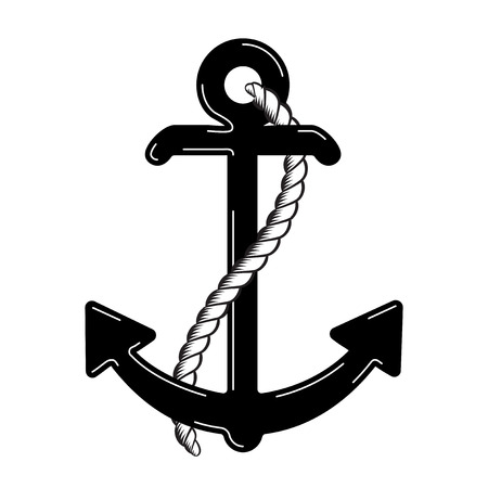 Vector Nautical Anchor. Icon. Maritime. Sea Ocean Boat Illustration Symbol