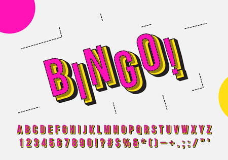 Retro but Modern Colorful Font, Alphabet, Numbers and Symbols
