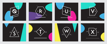 Big Set of Minimal Geometric Lined Template for Hipster Identity Stock fotó - 103629625