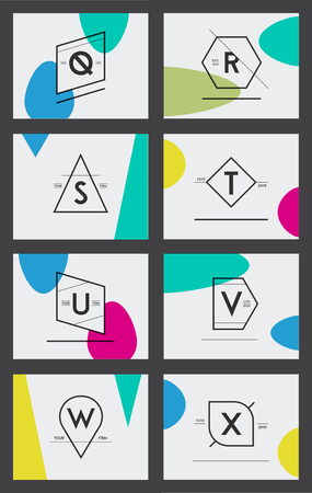 Big Set of Minimal Geometric Lined Template for Hipster Identity in Vector
