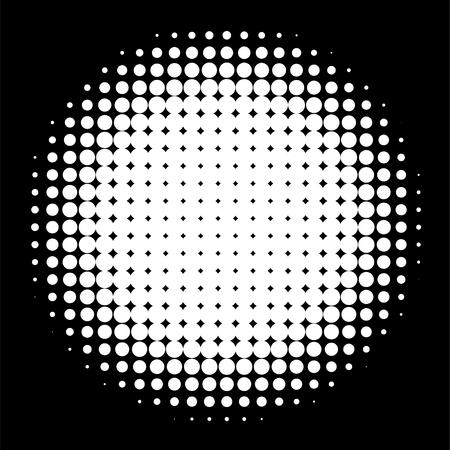 Circle in Halftone, Halftone Dot Pattern, Vector Illustration. Vetores