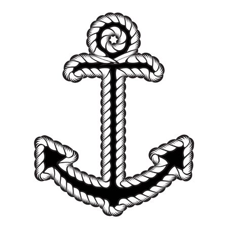 Vector Nautical Anchor  . Icon. Maritime. Sea Ocean Boat Illustration Symbol Illustration