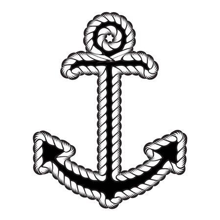 Vector Nautical Anchor  . Icon. Maritime. Sea Ocean Boat Illustration Symbol Ilustração