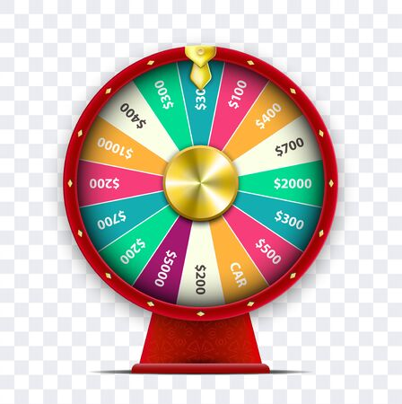 Colorful wheel of fortune. Vector illustration Ilustração
