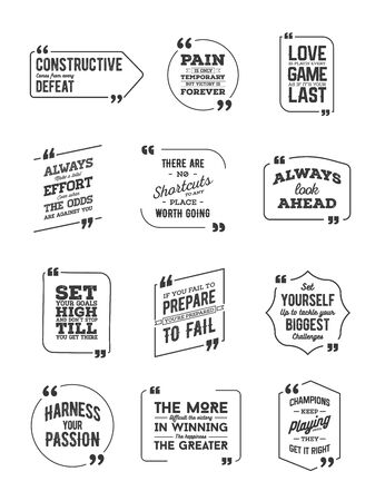Typographic Quote Template Bubble. Template Vector Big Set. Stock Illustratie