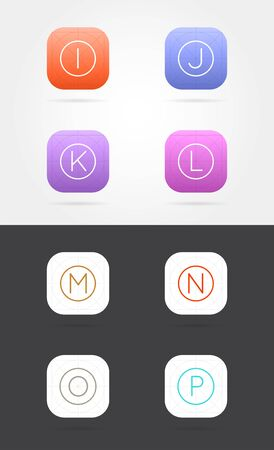 Big Set of App Icon Template with Guidelines. Vector Fresh Colour