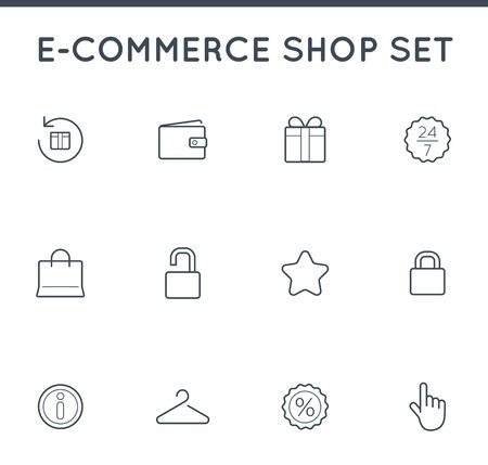 Set of Vector E-Commerce Icons Shopping and Online can be used as Logo or Icon in premium quality 일러스트