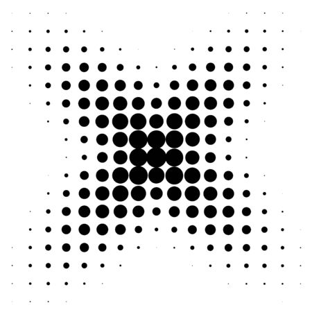Circle in Halftone, Halftone Dot Pattern Illustration.