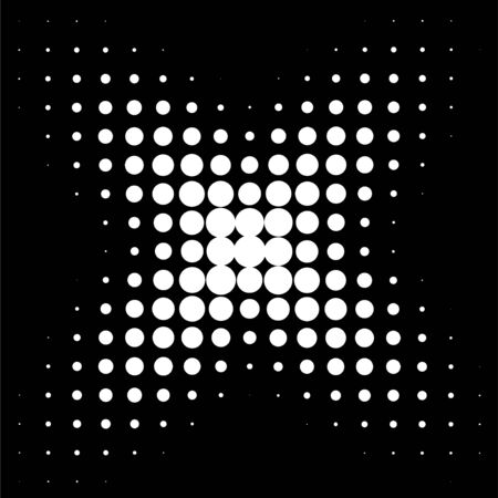 Circle in Halftone, Halftone Dot Pattern, Vector Illustration.