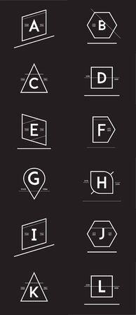 Big Set of Minimal Geometric Lined Template for Hipster Identity Vektorové ilustrace
