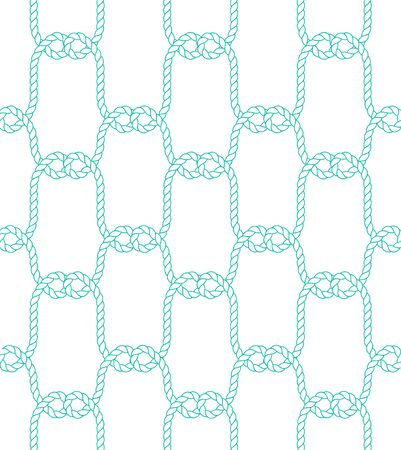 Seamless nautical rope pattern. Trendy maritime style background. For fabric, wallpaper, wrapping
