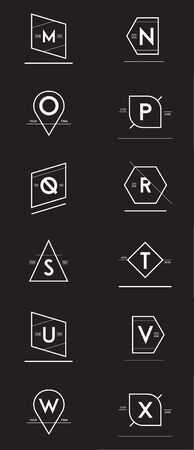 Big Set of Minimal Geometric Lined Template for Hipster Identity