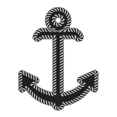Vector Nautical Anchor Logo. Icon. Maritime Sea Ocean Boat Illustration Symbol Illustration