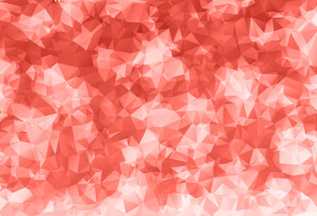 Trendy Coral Pink Geometric Triangle Pattern Vector Background. 2019 Color of the Year. Vektorgrafik