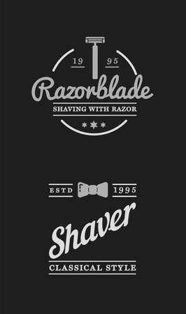 Barbershop, set of labels or emblems. Vector.