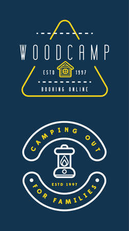 Summer camp. Vector on the chalkboard. Concept for shirt or patch, print, stamp or tee. Vintage. Illusztráció