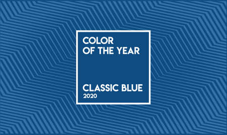 Classic Blue Color Sample. Vector.