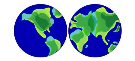 Trendy Liquid Shaped World Map in Vector