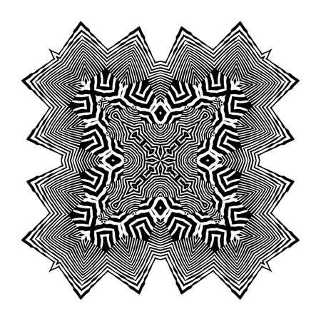 Stylish Mandala with Zebra Pattern. Vector.