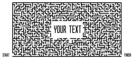 Vector Maze on White Background. Text Box Template. Pattern for children books, magazines.
