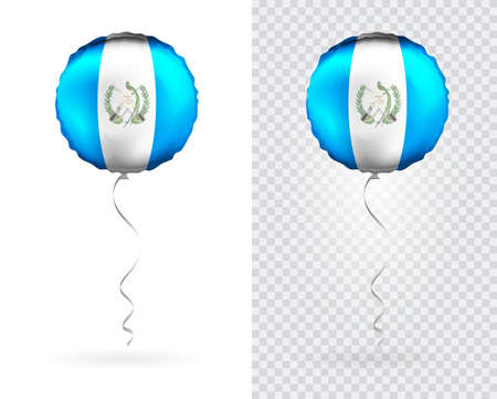 Balloons in Vector as Guatemala National Flag