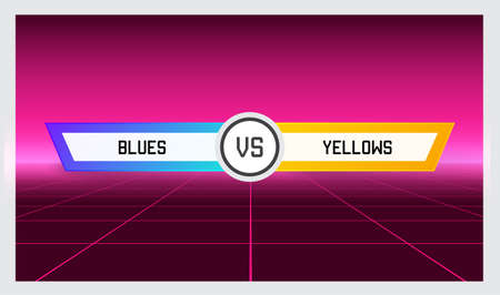 Game Versus Screen. Fight Backgrounds Against Each Other. Battle. Team vs Team. Sport or Gaming. Vector Illustration.