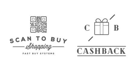 Set of E-Commerce Online Shopping Signs with Icons. Vectores