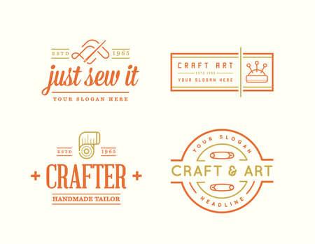 Craft and art Vector Design. Handmade, DIY, Craft, Tailoring and Knitting.