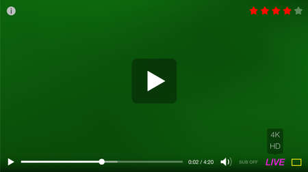 Web Video Player. High Resolutions Streaming Service. Vector illustration.