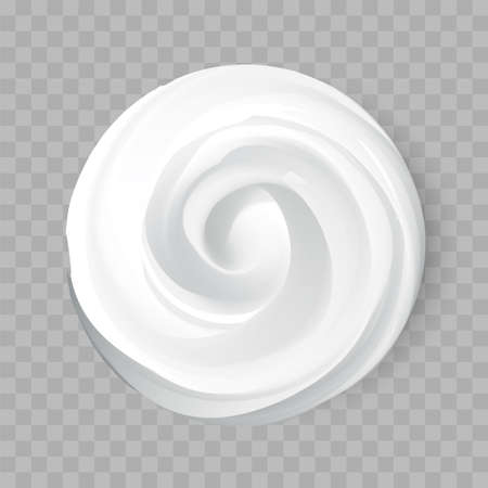 Cosmetic Cream Creme Smear Isolated on Background. Can be used separately. Vector. Vectores