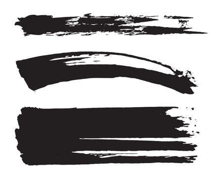 Vector black paint brush strokes.