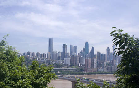 yangtze river: Chongqing City, the bridge on Yangtze river