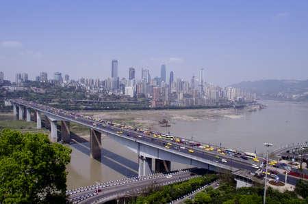 yangtze: Chongqing City, the bridge on Yangtze river