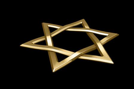 judaism: Judaism religious symbol - star of david Stock Photo
