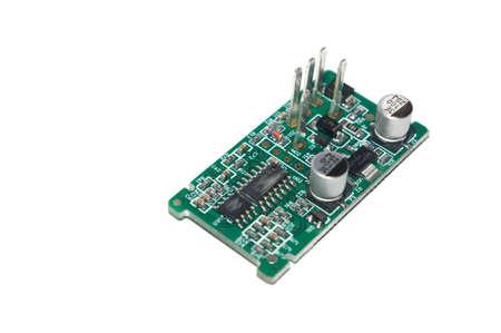 pcb: A macro PCB detail.