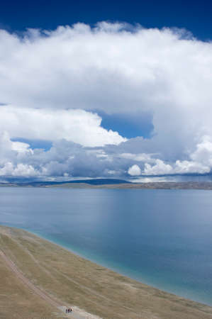 limpid: Namtso Lake in Tibet, China Stock Photo
