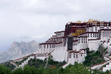 potala: the Potala Palace in overcast weather