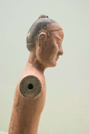 artefacts: Old pottery figure with history of 2000 years from emperor in Han Dynasty Editorial