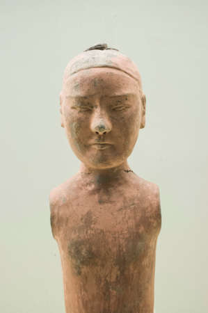 dynasty: Old pottery figure with history of 2000 years from emperor in Han Dynasty Editorial