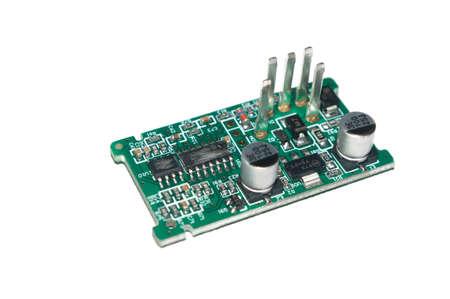 capacitance: A macro PCB detail.