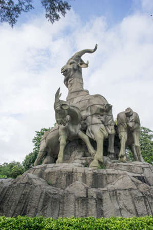The Statue of Five Goats, built in April 1960, one of the most famous landmark building in  Guangzhou .
