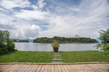 Yard waterside at Erhai lake, Yunnan, China