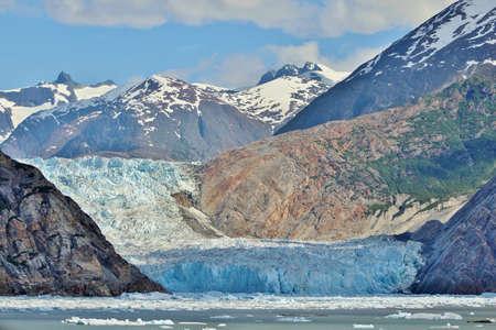 alaska scenic: Sawyer glacier in Tracy Arm fjord near Juneau, Alaska