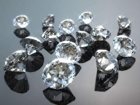 多くのダイヤモンド 写真素材
